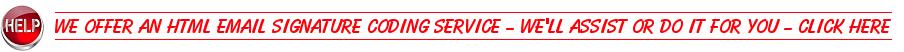Email Signature HTML Design & Coding Request