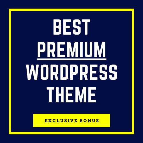 Bonus: The Best Premium Theme For Wordpress)