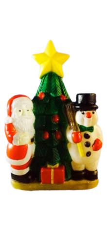 Santa & Snowman With Christmas Tree photo