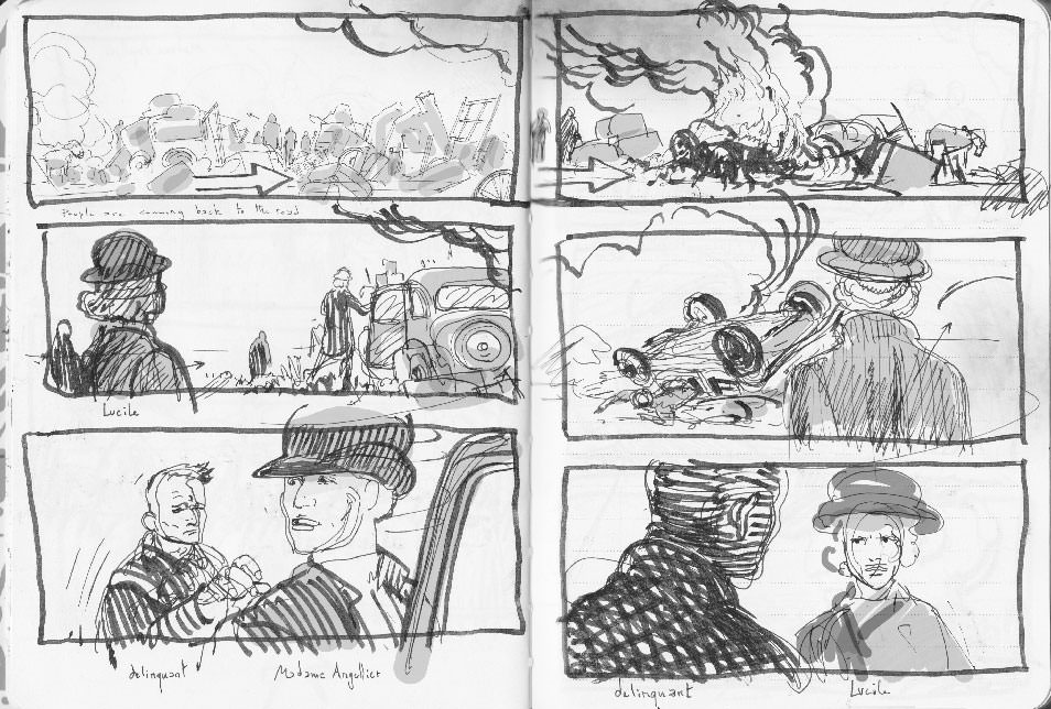 Suite Française first rough storyboard 09