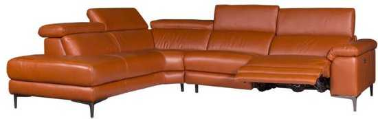 Hoekbank Lupine Chaise Longue Links Leer Oranje M5659 2 25 X 2 90 Mtr Breed 9200000083646643_6 Hout