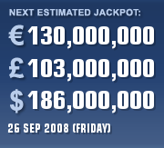 Euro Millions Estimate - 26 Sept \'08