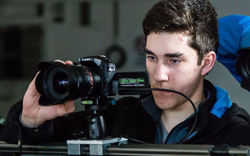 Philipp an der Kamera