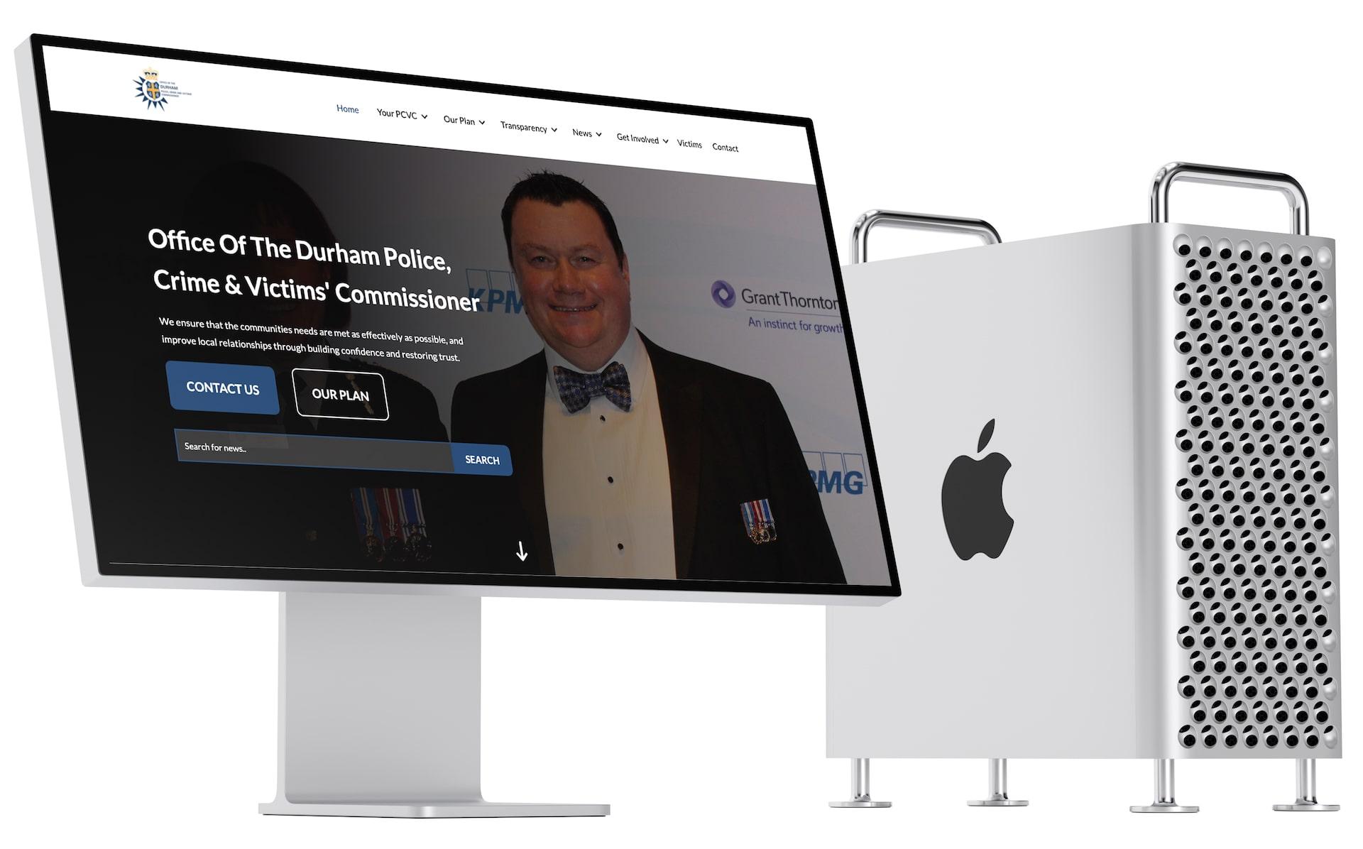 Mac with PCVC Website