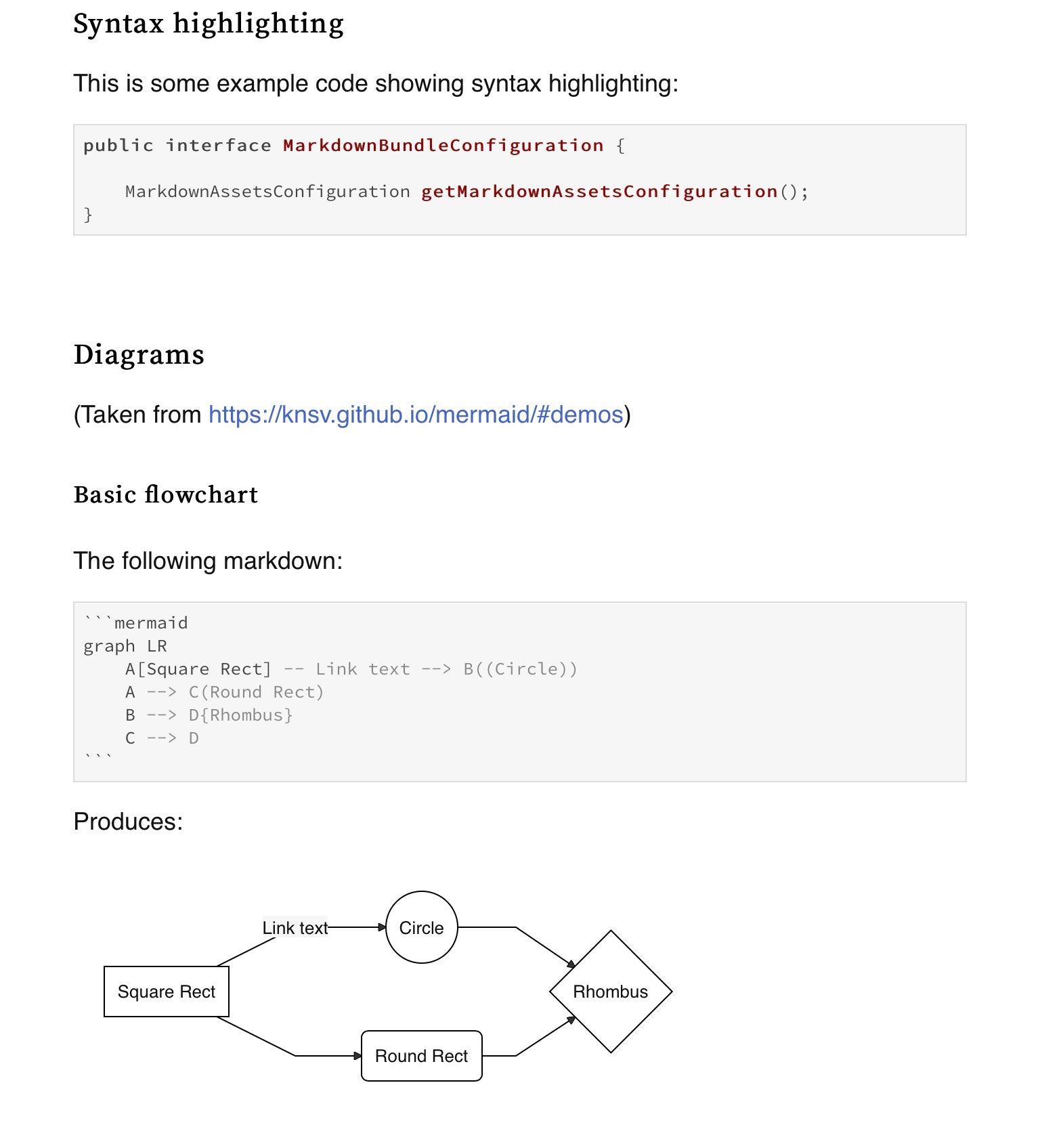 Screenshot of rendered docs