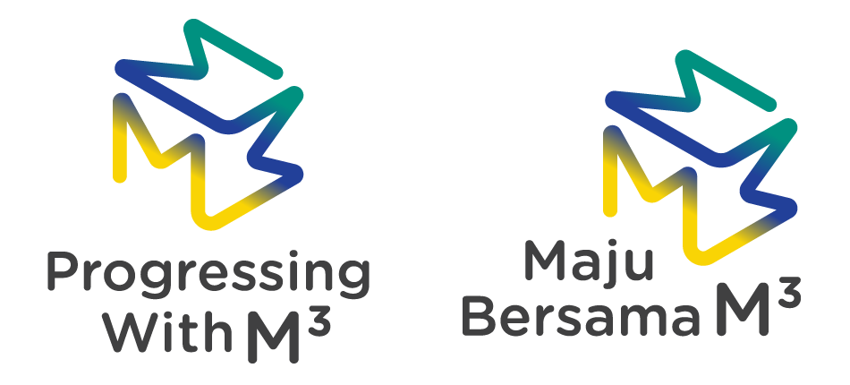 M3 Vertical Logos with Tagline in English and Malay