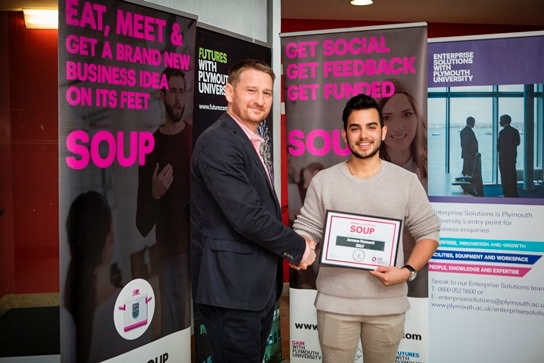 Prize for University of Plymouth entrepreneur connecting students with local businesses