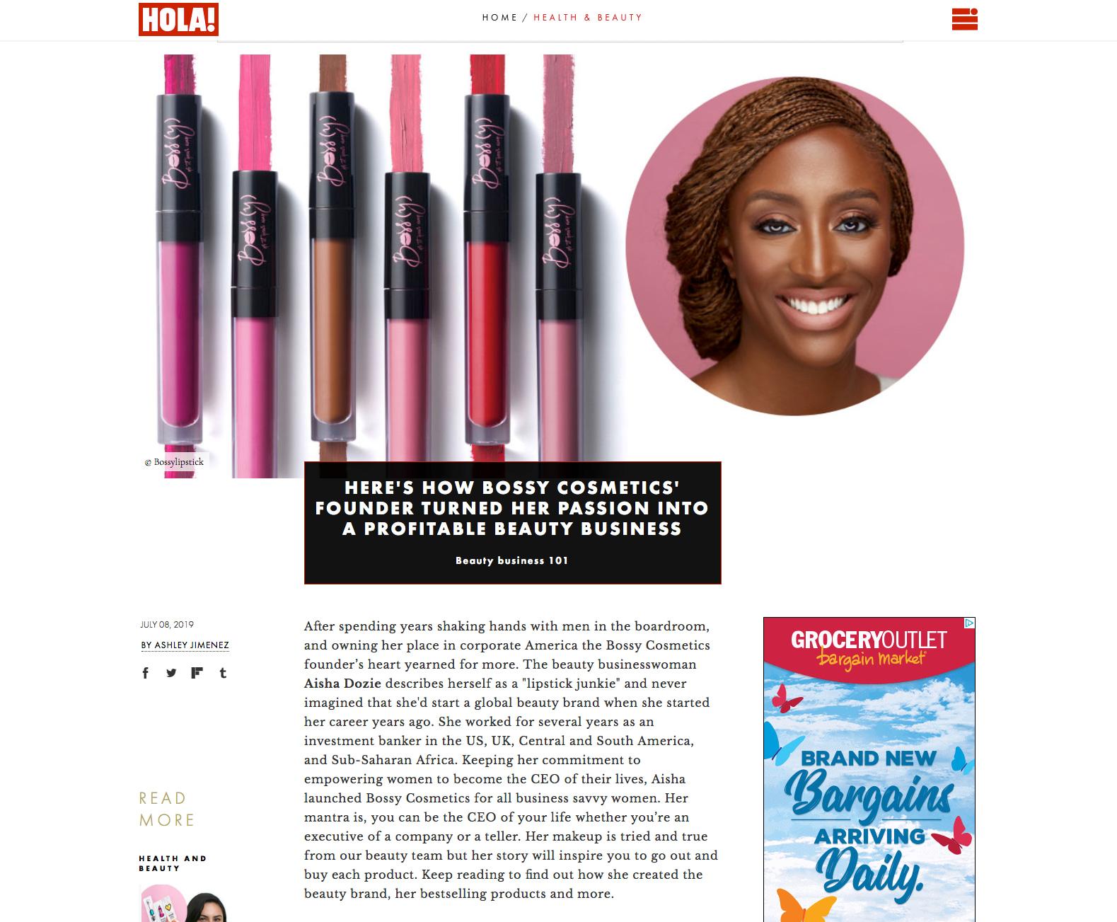 Bossy Cosmetics Blog Snapshot