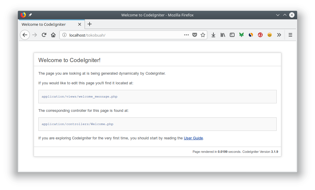 Welcome to Codeigniter