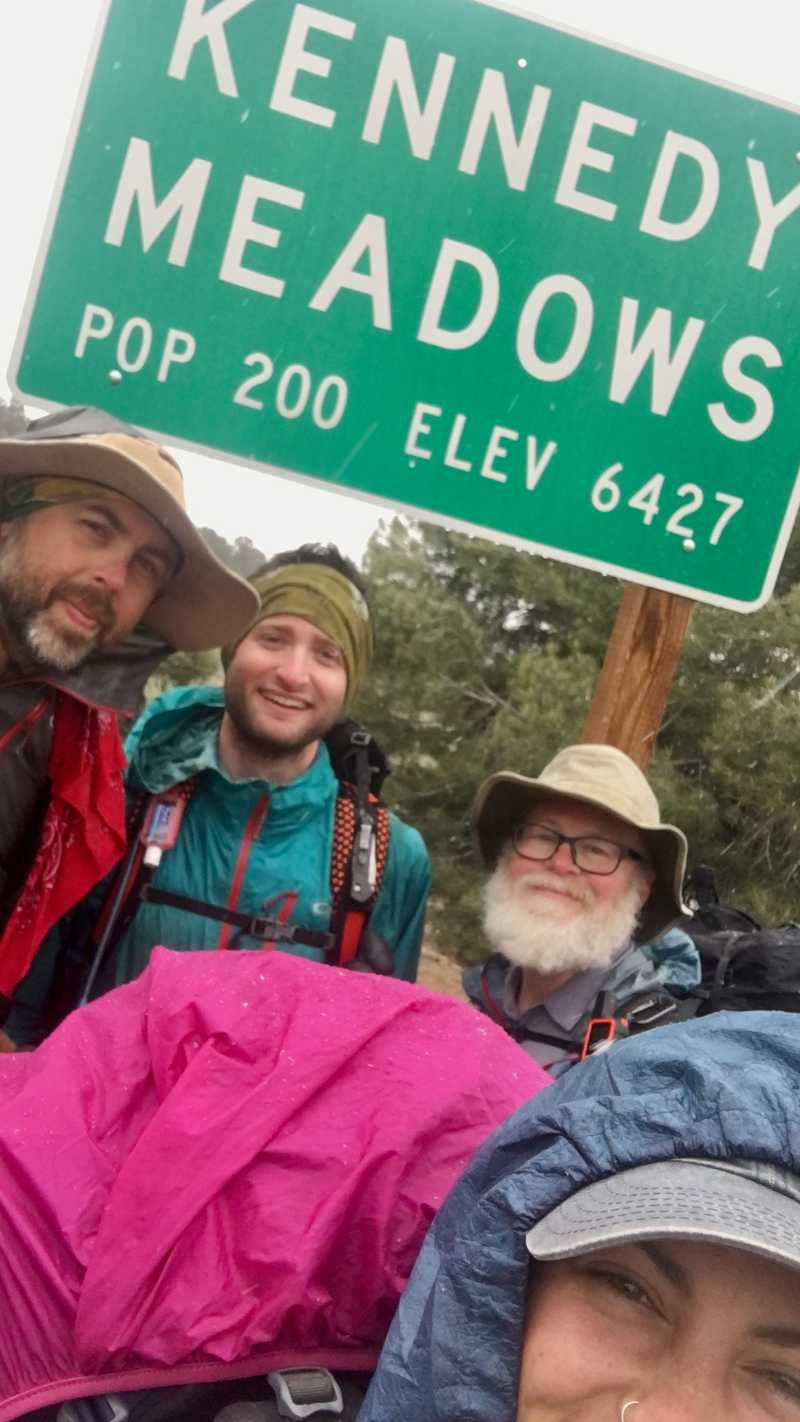 Selfie at the Kennedy Meadows sign