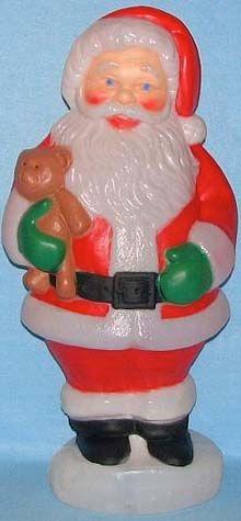 Santa With Teddy photo