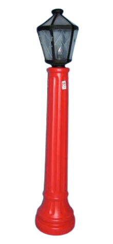 Red Lamppost photo