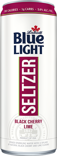 Labatt Blue Light Seltzer Black Cherry Lime