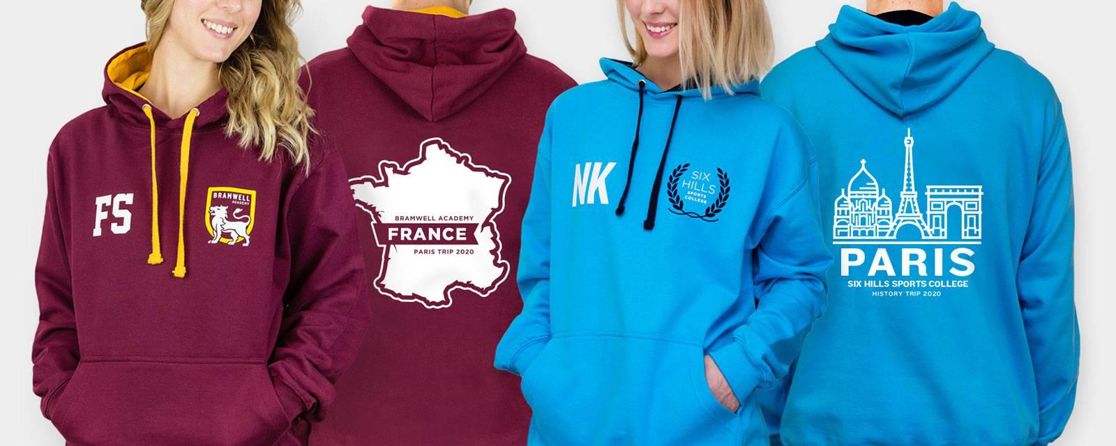 School trip hoodies