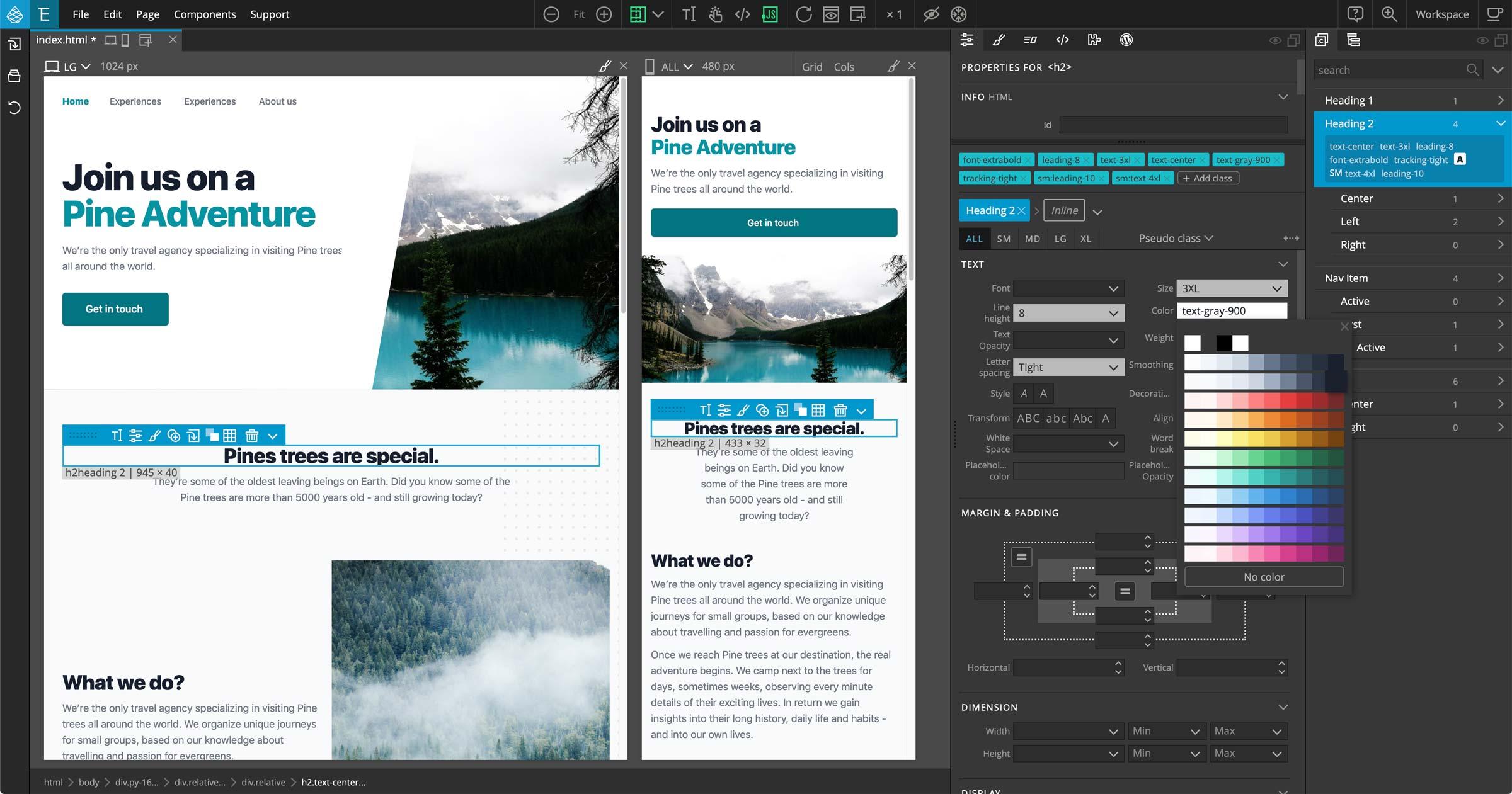 Tailwind Visual Editor