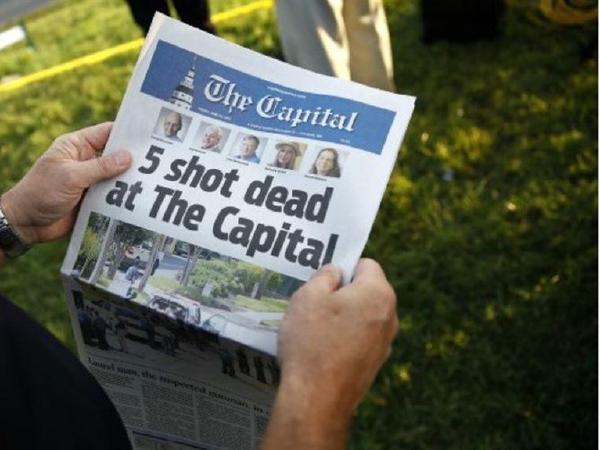 메릴랜드 총격사건 5명 사망…용의자, 앙심 품고 범행