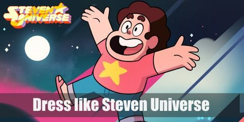 Steven Universe doesn't wear anything too outlandish. In fact, his style is very down to Earth, except for his iconic red shirt with a yellow star in the middle.
