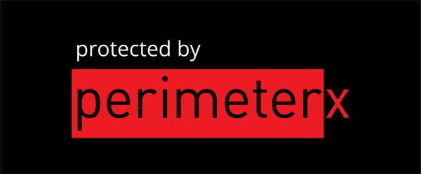 protected by perimeterx logo stacked red on black