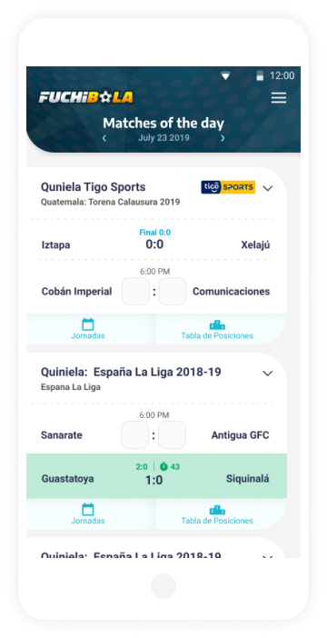 fuchibola App Screens