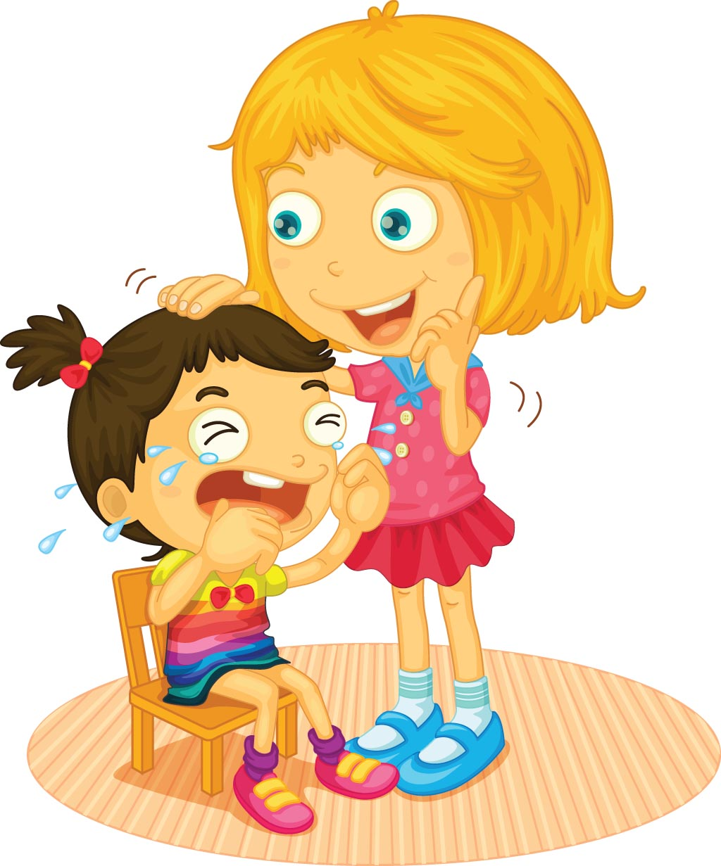 Girl consoling a friend: The Good Turn - A story for kids