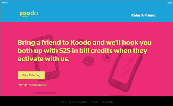 Koodo Refer a friend