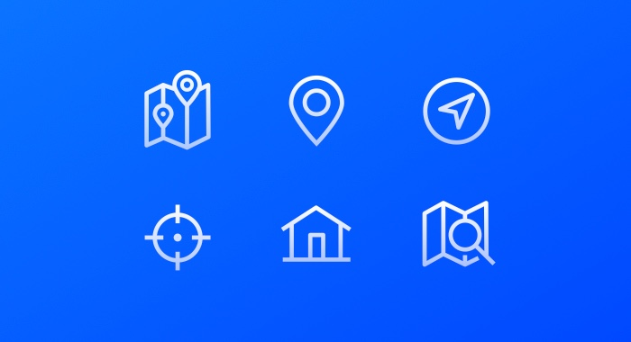 Location Icons component available in Framer