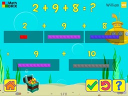 Apply the associative property to add and subtract three numbers within 20 Math Game