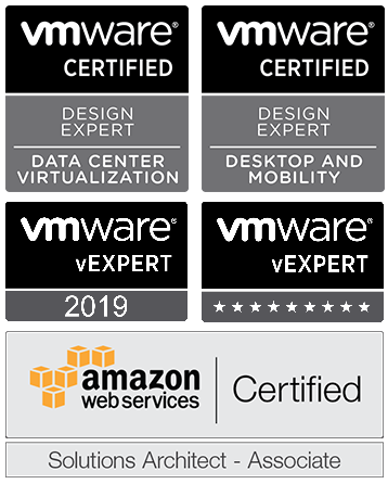 AWS Solutions Architect - Associate, VMware Double VCDX #122