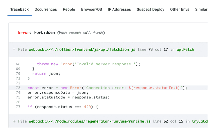 Angular Error details & metadata