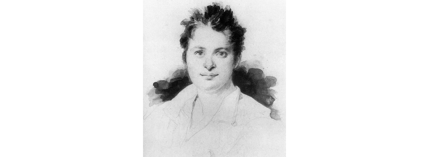 Портрет Оноре деБальзака, Ашиль Девериа (ок. 1825)