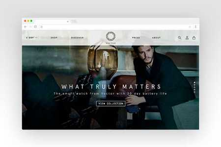 Web design for Vector Watch
