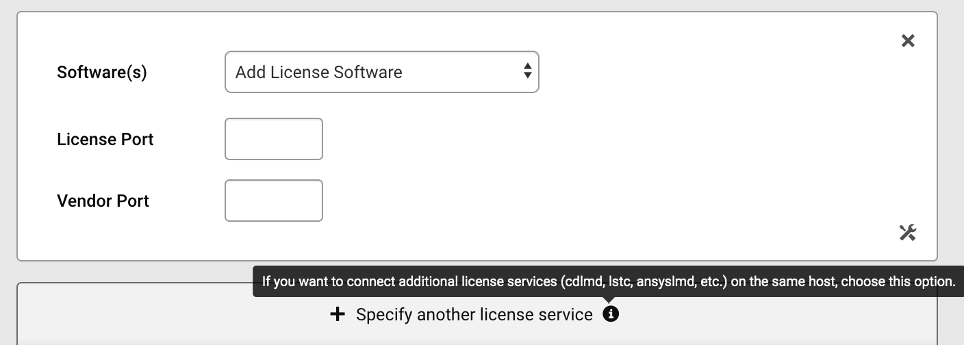 Specify-license-services