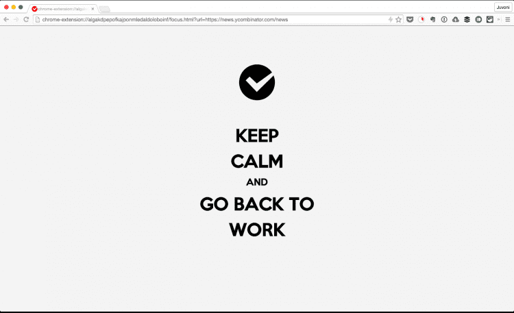 Keep Calm and Go Back to Work