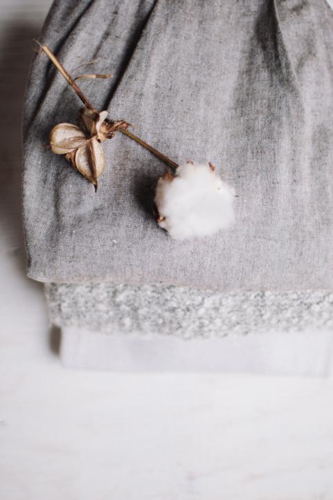 Fibres de coton naturel