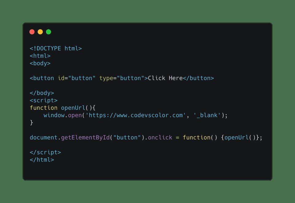 javascript open link in new tab