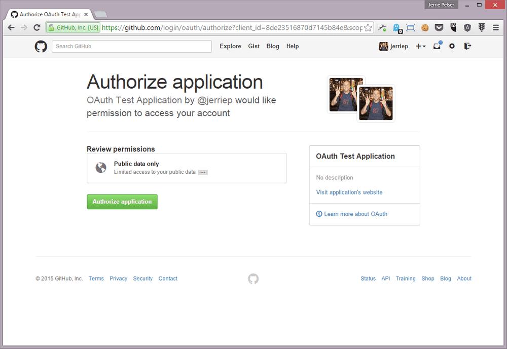 github authorization