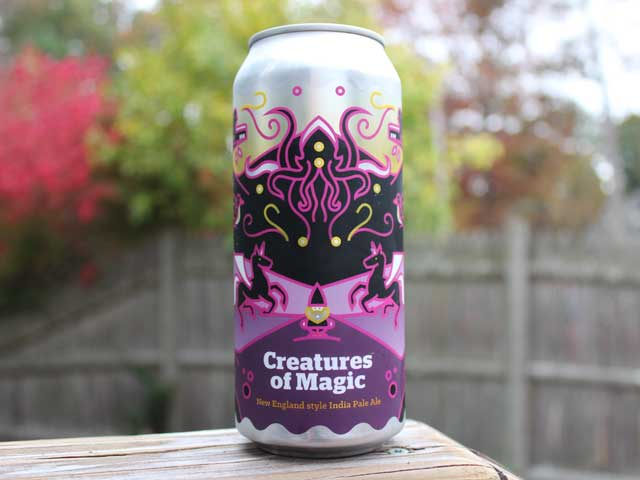 Creatures of Magic, a New England India Pale Ale brewed by Burlington Beer Company