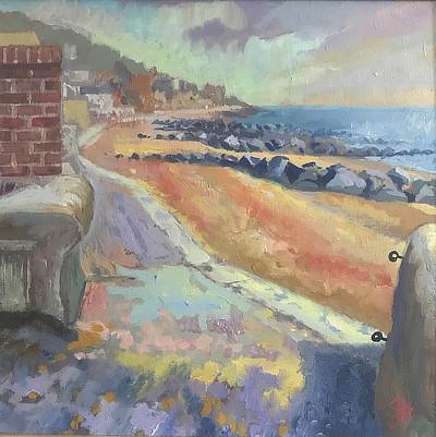 painting of Sandgate beach looking east