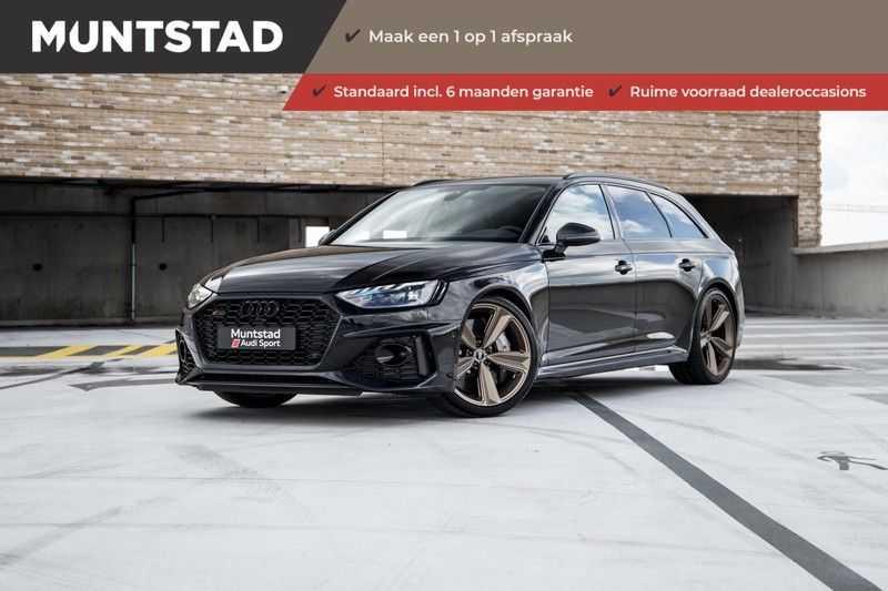 Audi RS4 Avant 2.9 TFSI quattro | 450PK | Style pakket Brons | Keramische remschijven | RS Dynamic | B&O | Sportdifferentieel | 280 km/h Topsnelheid |
