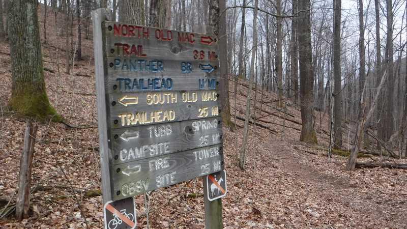 Sign at North Old Mac Trail