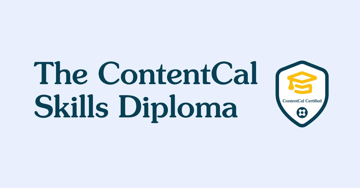 The ContentCal Skills Diploma image
