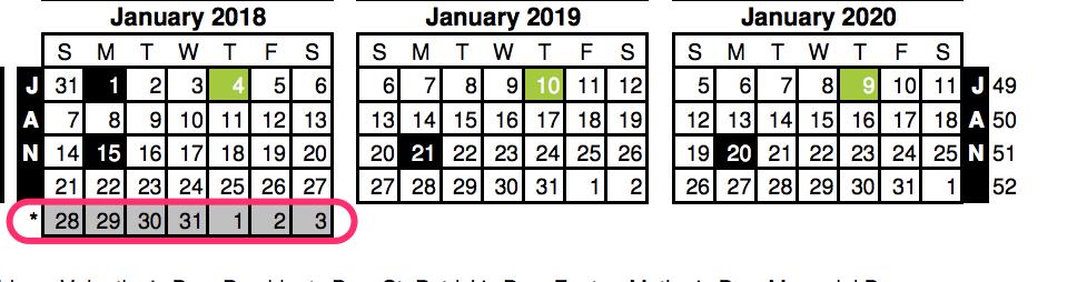 """""""4-5-4 Calendar (W53)"""""""