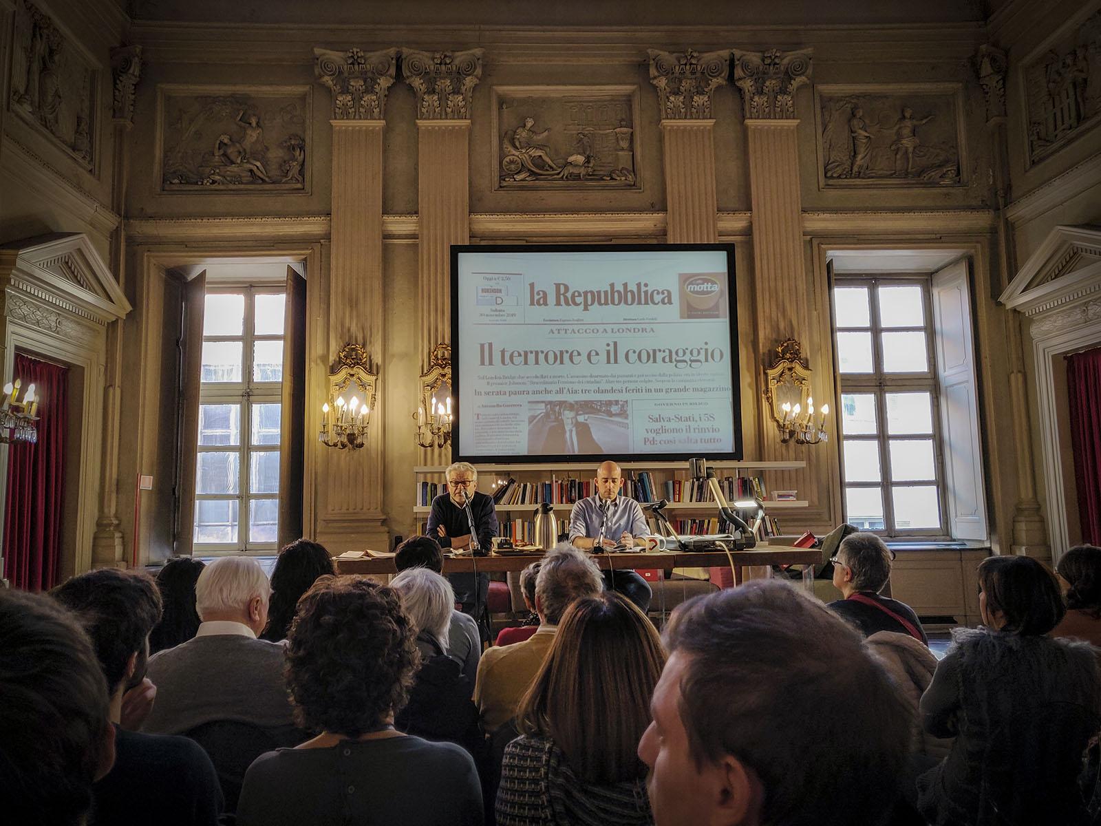 rassegna stampa de Il Post, con Francesco Costa e Luca Sofri, presso il circolo dei lettori