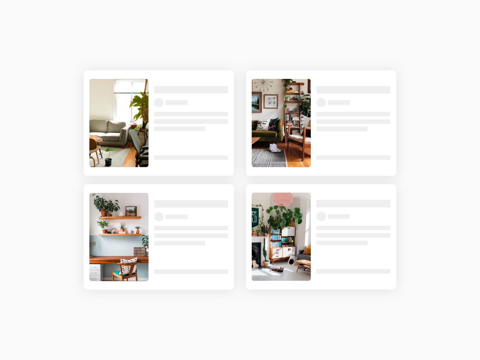 Real estate cards wireframe