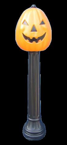 Pumpkin On A Post photo
