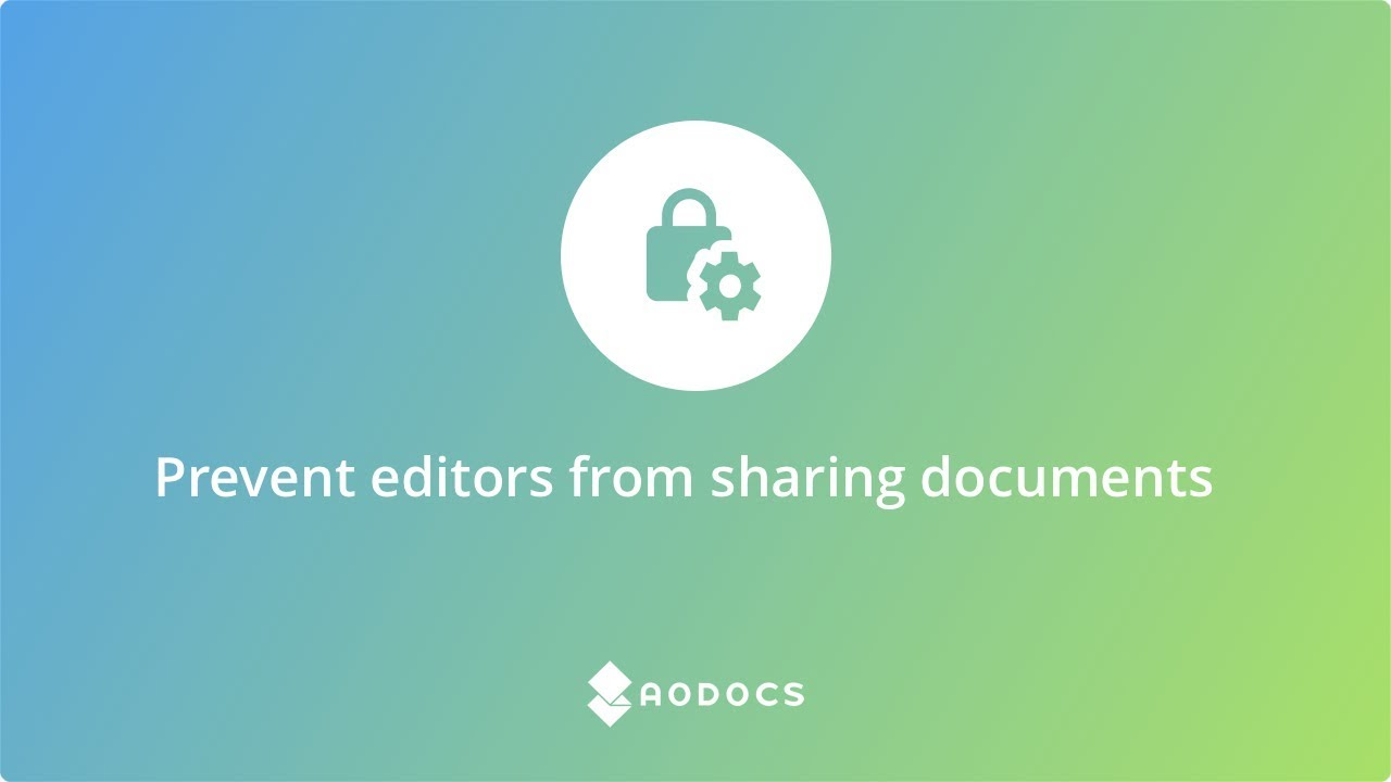 Prevent editors from sharing documents's thumbnails