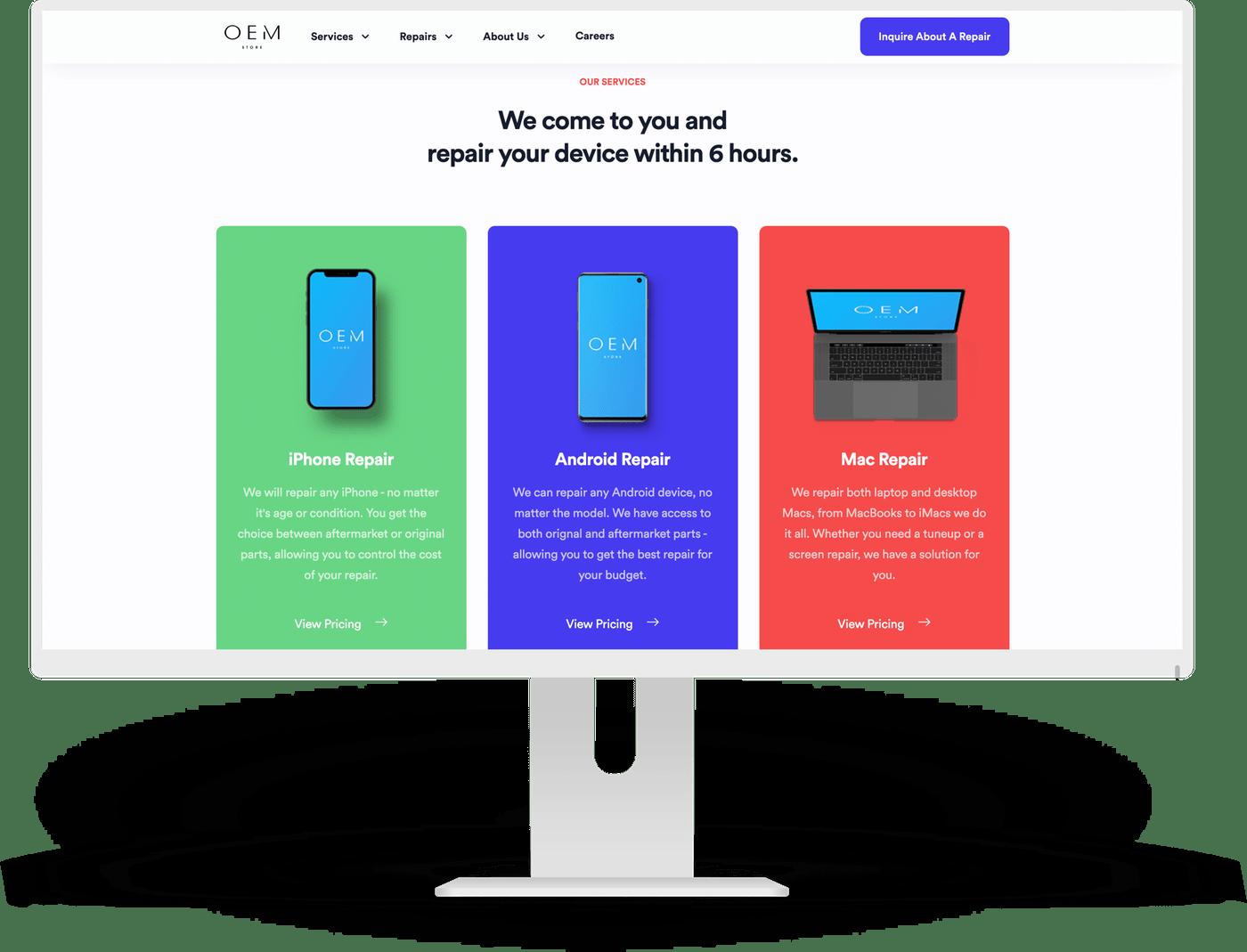 GatsbyJS Bayside Phone Repairs Website by Ten Squared