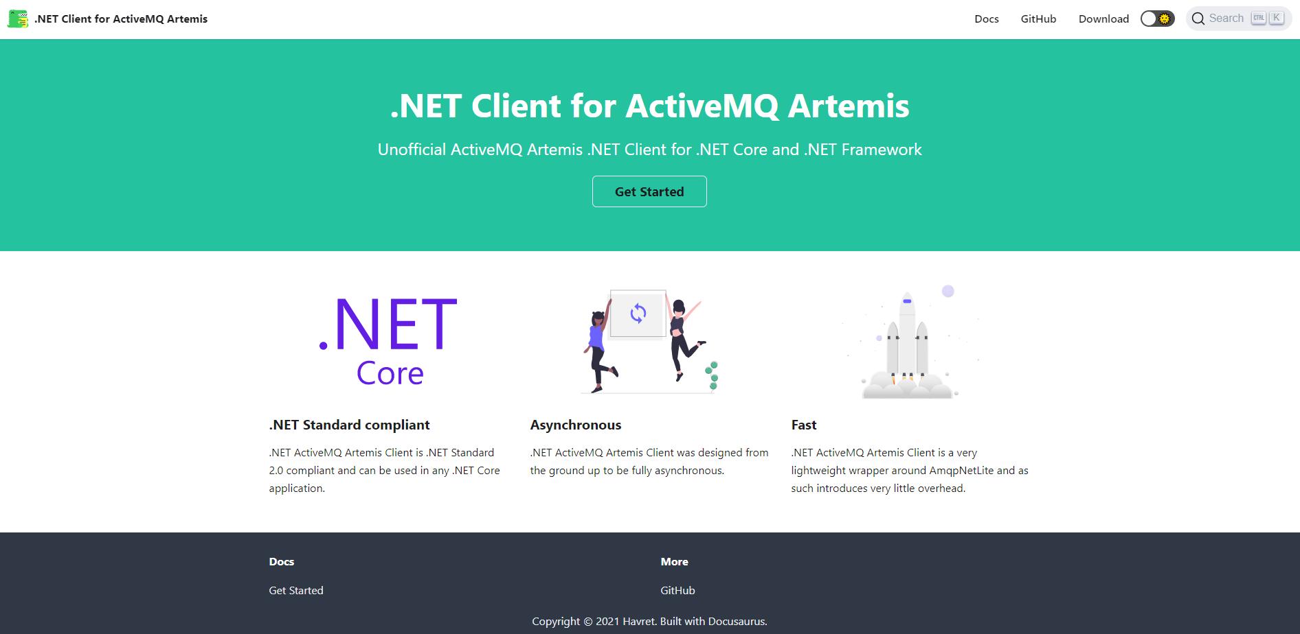 .NET Client for ActiveMQ Artemis