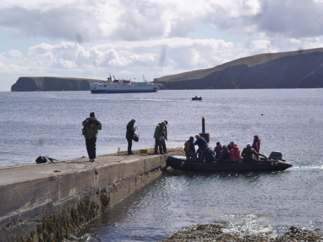 Ocean Nova lands passengers by zodiac at Houbie