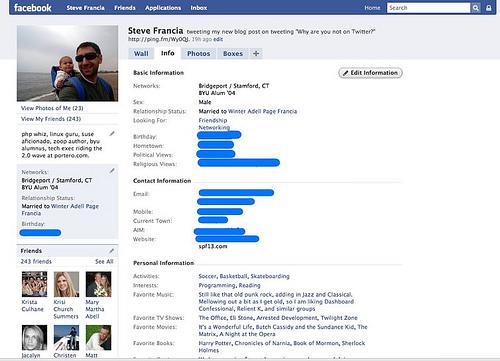 Facebook2 | Info Tab